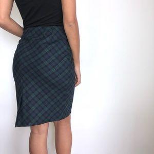 Brooks Brothers wool plaid pencil skirt 6 (298)